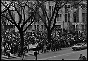 Madison, WI – May, 1970. Protesters mass on campus. On May 1, 1970, there was a general student strike in response to the news that the U.S. had expanded bombing into Cambodia. There was a march against the war, led by Veterans for Peace in Vietnam; and after the May 4 shootings at Kent State University in Ohio, there were more protests at UW Madison, which led to the police being called in, and teargassing demonstrators in the streets and on campus.