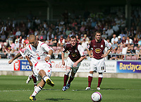 Photo: Lee Earle. <br /> Northampton Town v Swindon Town. Coca Cola Championship. 11/08/2007. <br /> Swindon's Christian Roberts scores their first half equaliser from the penalty spot.