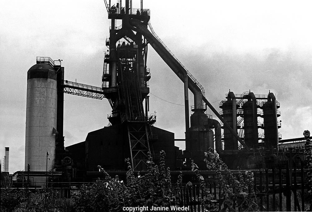 Elizabeth Furnace, Bilston Steelworks Open Heart furnace in The Black Country West Midlands in the 1978 . It closed down in 1979