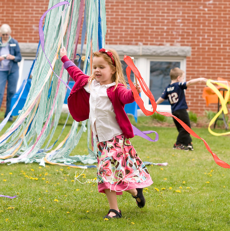 May Day festivities at Meredith Public Library May 1, 2010.