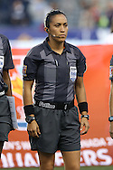 26 October 2014: Referee Lucila Venegas (MEX). The United States Women's National Team played the Costa Rica Women's National Team at PPL Park in Chester, Pennsylvania in the 2014 CONCACAF Women's Championship championship game. By advancing to the final, both teams have qualified for next year's Women's World Cup in Canada. The United States won the game 6-0.