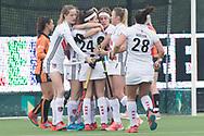 Eindhoven - Oranje Rood - Amsterdam  Dames, 1e ronde Playoffs, Eerste wedstrijd, Hoofdklasse Hockey Dames, Seizoen 2017-2018, 29-04-2018, Oranje Rood - Amsterdam 0-3,  goal amsterdam<br /> <br /> (c) Willem Vernes Fotografie