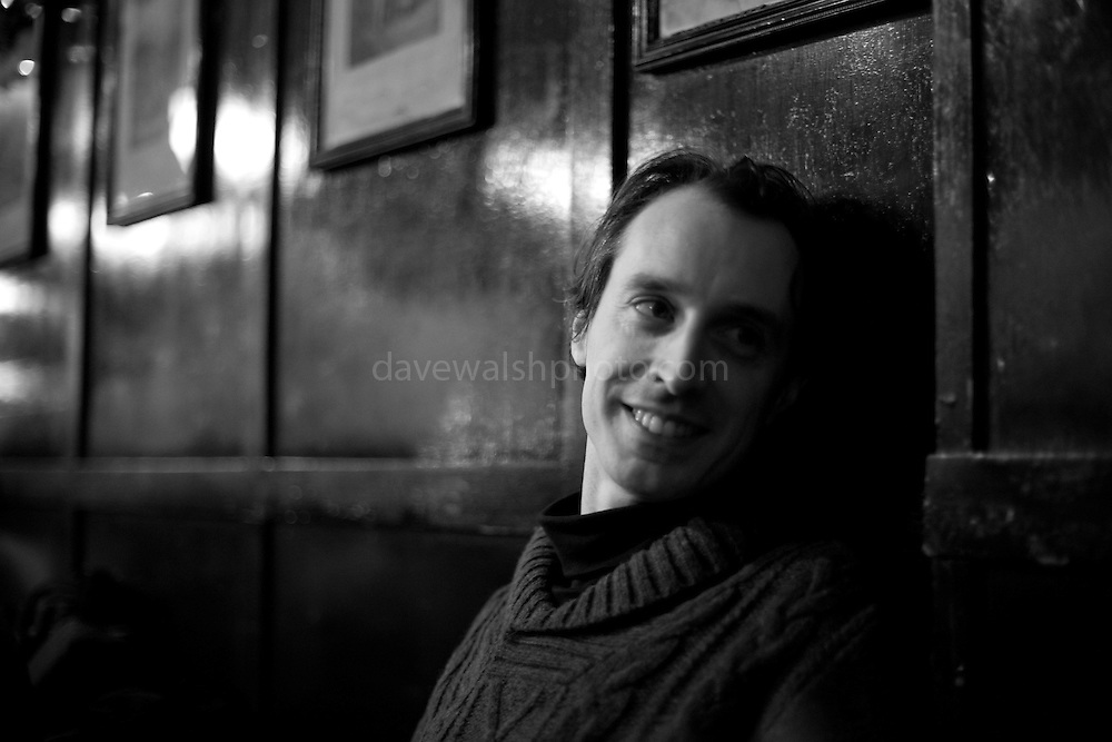 Barry Kavanagh, in The Long Hall pub, Dublin Christmas, 2010
