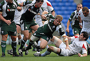 Reading, GREAT BRITAIN, Exile David PAICE, goes to ground after breaking out of the maul,  during the Guinness Premiership match London Irish vs Newcastle Falcons, at Madejski. England, Sun. 23.09.2007  [Mandatory Credit, Peter Spurrier/Intersport-images].....