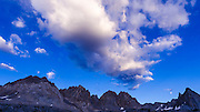 The Palisades above Dusy Basin, Kings Canyon National Park, California USA