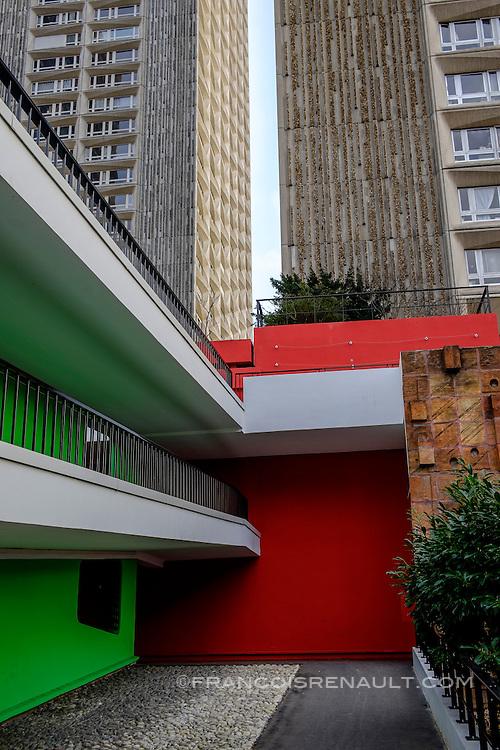 La Dalle Tolbiac, 13 ème arrondissement, Paris. / The Dalle Tolbiac 13th arrondissement, Paris.