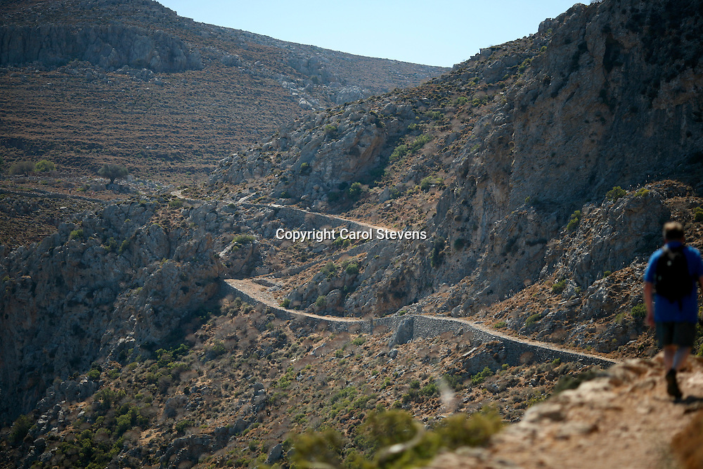 On the walk from Livadia to Gera, the abandoned village, Tilos, Dodecanese, Greece