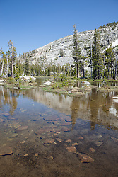 """Pond in Desolation Wilderness 1"" - Photograph of an unnamed pond in the Tahoe Desolation Wilderness."