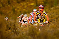 VILLIERSDORP, SOUTH AFRICA - Burry Stander leads the pack early during stage two, of the Absa Cape Epic Mountain Bike Stage Race held in Villiersdorp on the 23 March 2009 in the Western Cape, South Africa..Photo by Sven Martin  /SPORTZPICS