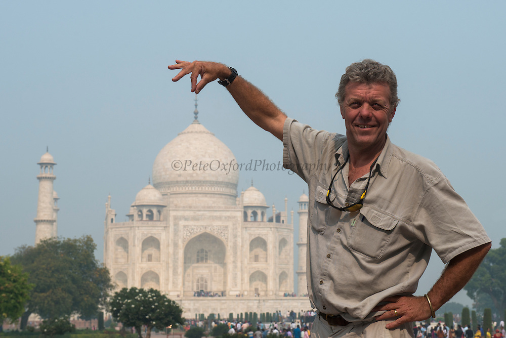 Taj Mahal & Pete<br /> Agra<br /> Uttar Pradesh,  India<br /> UNESCO World Heritage Site