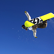 Shuhei Sato, Japan, in action during the Men's Halfpipe competition at the Burton New Zealand Open 2011 held at Cardrona Alpine Resort, Wanaka, New Zealand, 10th August 2011. Photo Tim Clayton