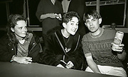 Inspiral Carpets - Tom Hingley and friends backstage, Manchester, UK, circa 1990,