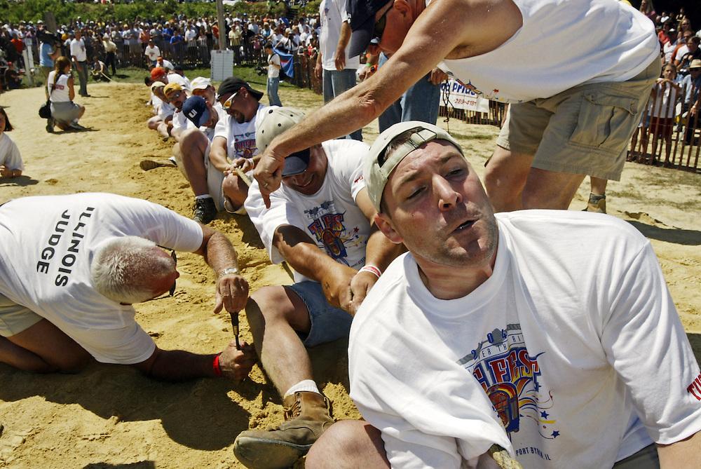 Great River Tug-Fest, Iowa vs. Illinois, 2004.