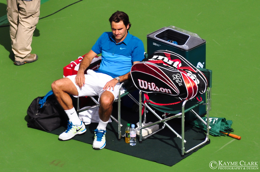 Roger Federer at the BNP Paribas Open in Indian Wells, California.