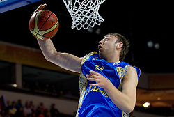 Oleksiy Pecherov of Ukraine during basketball match between National teams of Russia and Ukraine in Group D of Preliminary Round of Eurobasket Lithuania 2011, on August 31, 2011, in Arena Svyturio, Klaipeda, Lithuania. (Photo by Vid Ponikvar / Sportida)