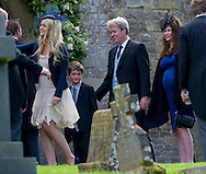 """CHARLES SPENCER (Earl Spencer) AND WIFE KAREN GORDON WITH DAUGHTER KITTY AND SON EDMUND.attend the wedding of Emily McCorquodale to James Hutt at  the Church of St Andrew & St Mary, Stoke Rochford, Lincolnshire.Emily is the daughter of Princess Diana' sister Sarah McCorquodale_09/06/2012.Mandatory Credit Photo: ©NEWSPIX INTERNATIONAL..**ALL FEES PAYABLE TO: """"NEWSPIX INTERNATIONAL""""**..IMMEDIATE CONFIRMATION OF USAGE REQUIRED:.Newspix International, 31 Chinnery Hill, Bishop's Stortford, ENGLAND CM23 3PS.Tel:+441279 324672  ; Fax: +441279656877.Mobile:  07775681153.e-mail: info@newspixinternational.co.uk"""