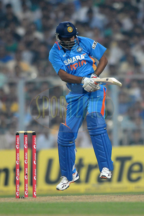 during the 5th One Day International ( ODI ) match between India and England held at the Eden Gardens Stadium, Kolkata on the 23rd October 2011..Photo by Pal Pillai/BCCI/SPORTZPICS