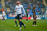 Bolton Wanderers striker Gary Madine (14) just misses the target during the EFL Sky Bet Championship match between Bolton Wanderers and Leeds United at the Macron Stadium, Bolton, England on 6 August 2017. Photo by Simon Davies.
