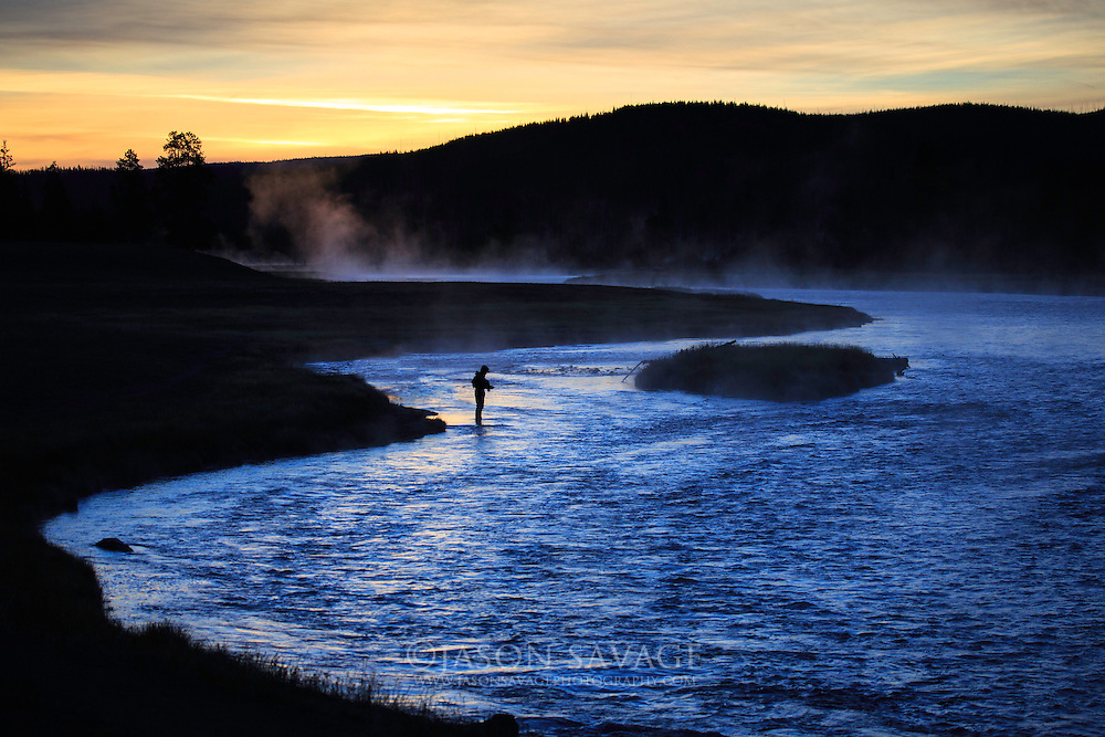 Early fall morning on the Madison River, Yellowstone National Park
