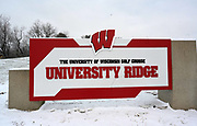 Nov 17, 2018; Madison, WI, USA; General overall view of the entrance fo the University Ridge Golf Course at the University of Wisconsin.