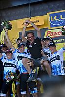 Sykkel<br /> Tour de France 2011<br /> 03.07.2011<br /> Foto: PhotoNews/Digitalsport<br /> NORWAY ONLY<br /> <br /> 2nd stage / ploegentijdrit / contre-la-montre par equipe / team time-trial / Les Essart / team Garmin - Cervelo - Jonathan Vaughters , CEO Garmin - Cervelo <br /> <br /> THOR HUSHOVD (TEAM GARMIN - CERVELO - NOR)