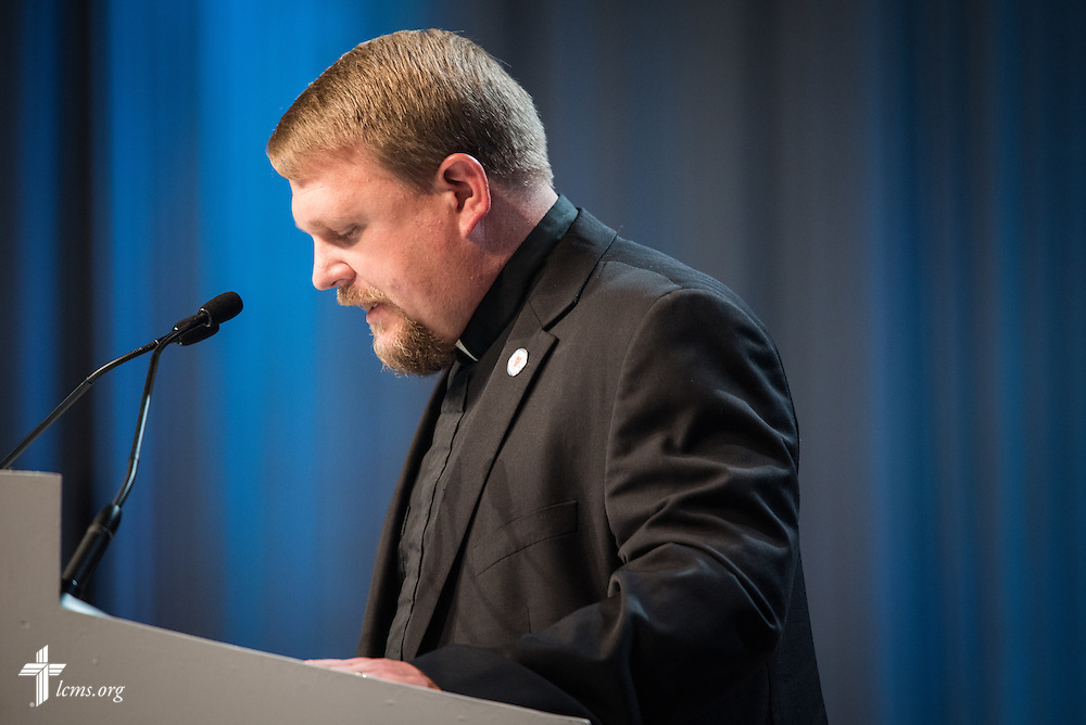 The Rev. Ryan David Wendt speaks Tuesday, July 12, 2016, at the 66th Regular Convention of The Lutheran Church–Missouri Synod, in Milwaukee. LCMS/Frank Kohn