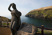 Udo, a small Island near Jeju-do. Haenyeo (female divers) statue.