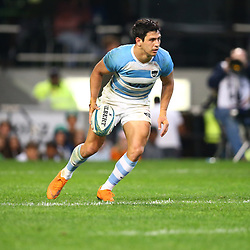 DURBAN, SOUTH AFRICA - AUGUST 18: Try time Matias Moroni of Argentina during the Rugby Championship match between South Africa and Argentina at Jonsson Kings Park on August 18, 2018 in Durban, South Africa. (Photo by Steve Haag/Gallo Images)