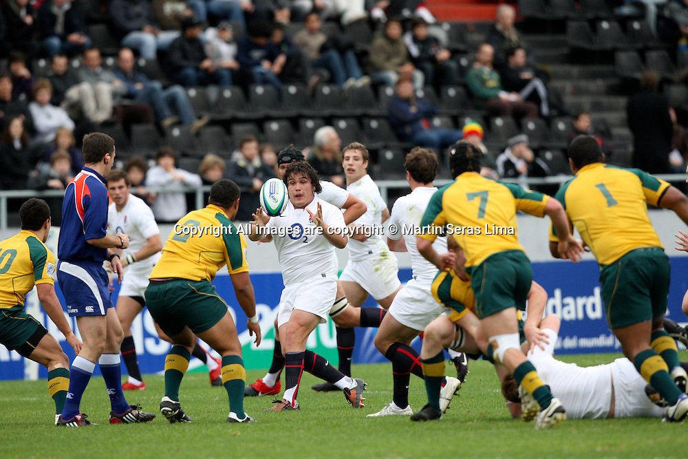 Australia v England - IRB Junior World Championship 2010 Semi Finals - Estadio Coloso del Parque - Rosario - Argentina. Photo: Martin Seras Lima