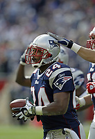 New England Patriots Ty Law plays in a game against the Seattle Seahawks.<br /> (Tom DiPace)
