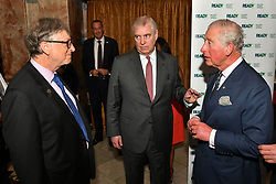 (left to right) Bill Gates talks to the Duke of York and the Prince of Wales during the Malaria Summit in Northumberland Avenue, London, during the Commonwealth Heads of Government Meeting.