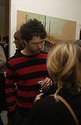 Conrad Shawcross, Mollie Dent-Brocklehurst, Joe La Placa and Henk Pijnenburg host an evening salon featuring the paintings of Aaron van Erp. Conway St. London. 9 December 2005. Decembe 8  2005.ONE TIME USE ONLY - DO NOT ARCHIVE  © Copyright Photograph by Dafydd Jones 66 Stockwell Park Rd. London SW9 0DA Tel 020 7733 0108 www.dafjones.com