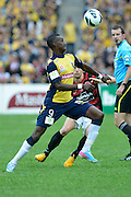 21.04.2013 Sydney, Australia. Mariners forward Bernie Ibini-Isei  in action  during the Hyundai A League grand final game between Western Sydney Wanderers FC and Central Coast Mariners FC from the Allianz Stadium.Central Coast Mariners won 2-0.