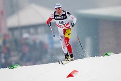 Devon Kershaw of Canada during mens 10km Classic individual start of the Tour de Ski 2014 of the FIS cross country World cup on January 4th, 2014 in Cross Country Centre Lago di Tesero, Val di Fiemme, Italy. (Photo by Urban Urbanc / Sportida)