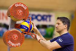 Samo Miklavc during training camp of Slovenian Volleyball Men Team 1 month before FIVB Volleyball World League tournament in Ljubljana, on May 5, 2016 in Arena Vitranc, Kranjska Gora, Slovenia. Photo by Vid Ponikvar / Sportida