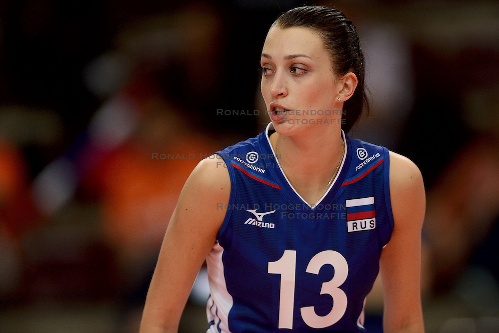 24-09-2014 ITA: World Championship Volleyball Rusland - Mexico, Verona<br /> Rusland wint met 3-0 / Evgeniya Startseva