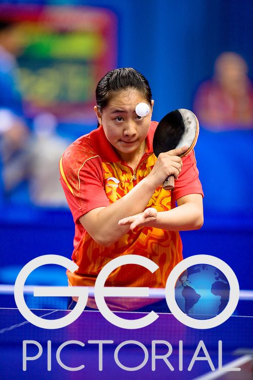 China's Meili Liu during the first round WIC9 match against Sarah Lazzaro of Australia at the Peking University Gymnasium in Beijing China during the 2008 Paralympic Games on the 7th September 2008; Liu won the match;