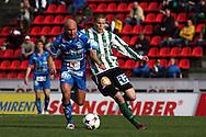 22.05.2008, Ratina, Tampere, Finland..Veikkausliiga 2008 - Finnish League 2008.Tampere United - FC KooTeePee.Antti Pohja (TamU) v Sasha Anttilainen (KooTeePee).©Juha Tamminen.....ARK:k