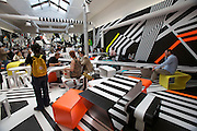 """Giardini, Palazzo delle Esposizioni. International exhibition """"Fare Mondi // Making Worlds // Bantin Duniyan // ???? // Weltenmachen // Construire des Mondes // Fazer Mundos..."""" curated by Daniel Birnbaum..Tobias Rehberger, Cafeteria, 2009"""