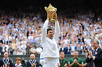 TENNIS - GRAND SLAM - WIMBLEDON CHAMPIONSHIPS 2011 - LONDON (GBR) - FINAL MEN - 03/07/2011 - PHOTO : ANTOINE COUVERCELLE / TENNIS MAG / DPPI - NOVAK DJOKOVIC (SER) DEF RAFAEL NADAL (SPA)
