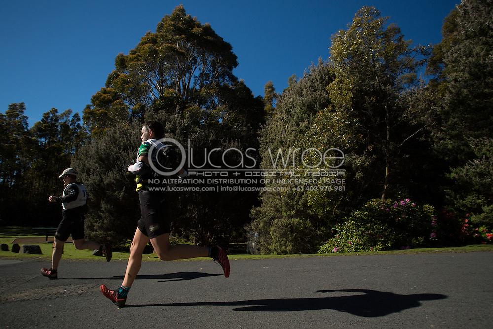 Team Europcar VIC (Glen Christiansen and Scott Allen). Adventure Racing. Swisse Mark Webber Challenge 2013. Hobart, Tasmania, Australia. 01/12/2013. Photo By Lucas Wroe