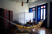 hammock inside the bedroom in the hotel in brazil