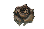 still life of a wooden rose