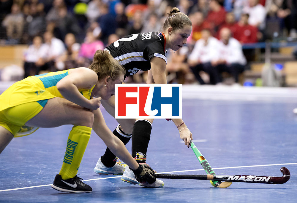 BERLIN - Indoor Hockey World Cup<br /> Women: Germany  - Australia<br /> foto: Cecile Pieper.<br /> WORLDSPORTPICS COPYRIGHT FRANK UIJLENBROEK