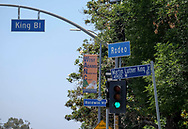 A street sign of Rodeo Road that will be renamed Obama Boulevard in honor of former President Barack Obama, is seen on June 29, 2017, in Los Angeles. The Los Angeles City Council has voted unanimously to name a street for former President Obama. The motion approved 14-0 Wednesday calls for the city engineer to begin the process of renaming several miles of Rodeo Road as Obama Boulevard.<br /> (Photo by Ringo Chiu)<br /> <br /> Usage Notes: This content is intended for editorial use only. For other uses, additional clearances may be required.