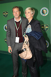 17.05.2014, Olympiastadion, Berlin, GER, DFB Pokal, Borussia Dortmund vs FC Bayern Muenchen, Finale, im Bild Torwart-Trainer Andreas Koepcke (Deutschland) mit Frau // during the mens DFB Pokal final match between Borussia Dortmund and FC Bayern Munich at the Olympiastadion in Berlin, Germany on 2014/05/17. EXPA Pictures &copy; 2014, PhotoCredit: EXPA/ Eibner-Pressefoto/ Kolbert<br /> <br /> *****ATTENTION - OUT of GER*****