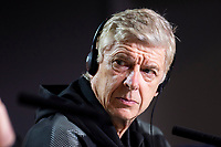 Arsenal FC coach Arsene Wenger during press conference day before Europa League Semi Finals First Leg at Wanda Metropolitano in Madrid, Spain. May 02, 2018.  (ALTERPHOTOS/Borja B.Hojas)