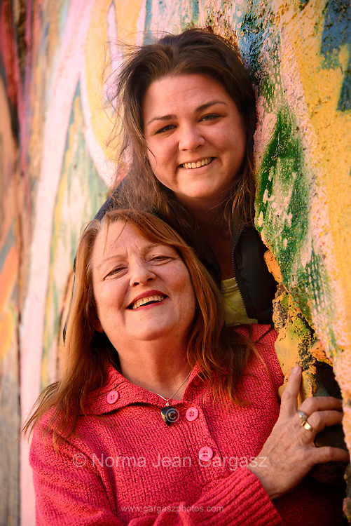 Gayle DeVilbiss, (left), and her daughter, Sammi DeVilbiss, Bisbee, Arizona, USA, 2015