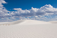 Sand dunes at White Sands National Monument, New Mexico.