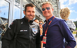 21.06.2015, Red Bull Ring, Spielberg, AUT, FIA, Formel 1, Grosser Preis von Österreich, Rennen, im Bild Hannes Arch und David Coulthard // during the Race of the Austrian Formula One Grand Prix at the Red Bull Ring in Spielberg, Austria, 2015/06/21, EXPA Pictures © 2015, PhotoCredit: EXPA/ Dominik Angerer